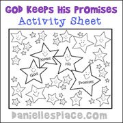 God Keeps His Promise Activity Sheet