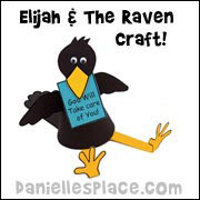 Sitting Raven Holding a Sign Craft