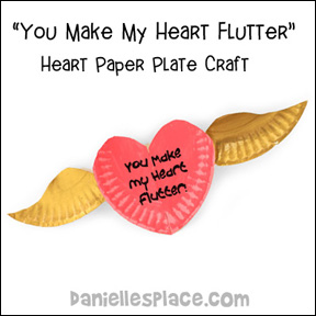 Heart Paper Plate Craft