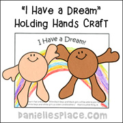 I Have a Dream Holding Hands Craft