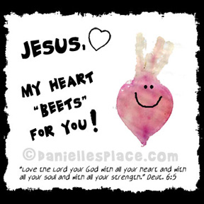 """Jesus, My Heart 'Beets' For You!"" Valentine's Day Card Craft"