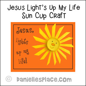 """Jesus Lights Up My Life"" Craft"