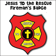 Jesus Rescues Me Badge