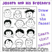Joseph and His Brothers Face Activity