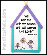 We Will Serve the Lord Craft Stick House
