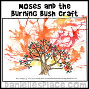 Moses Burning Bush Craft