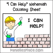 I Can Help Nehemiah Coloring Sheet