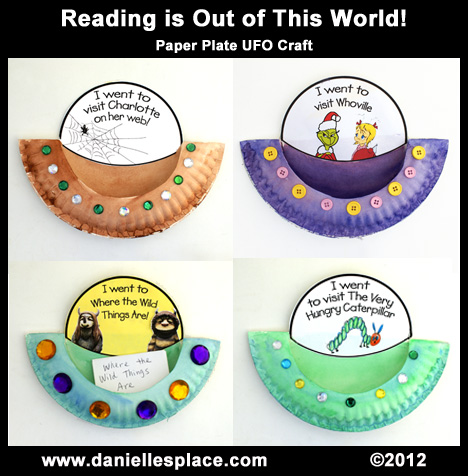 Reading is Out of This World Paper Plate Craft and Reading Activity