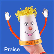 Four Kinds of Prayer Cup Puppet Craft