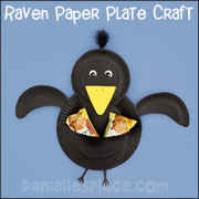 Giving Raven Paper Plate Craft