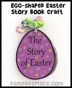 Egg-Shaped Easter Story Book Craft