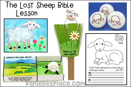 ABC, I Believe Homeschool Lesson Letter S - Lost Sheep