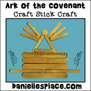 Craft Stick Ark of the Covenant