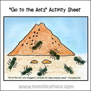 """Go to the Ants"" Activity Sheet"