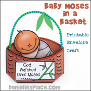Baby Moses in a Basket Craft