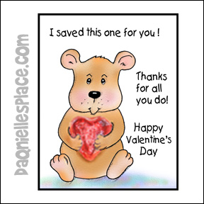 """""""I Saved One for You"""" Valentine's Day Card"""