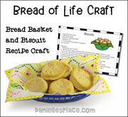 Bread Napkin and Recipe Card Craft