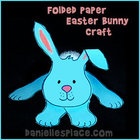 Folded Paper Easter Bunny