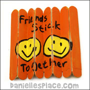 Friends Stick Together Folding Craft Stick Craft