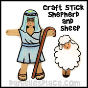 Shepherd and Sheep Craft Stick Craft