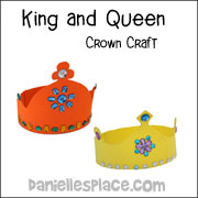 King and Queen Crown Crafts