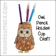 Owl Pencil Holder Cup Craft