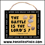 """The Battle is the LORD's"" Wall Hanging"