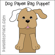 Dog Paper Bag Puppet