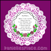 Mothers Day Doily