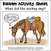 """""""What Did the Donkey Say?"""" Activity Sheet"""