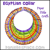Egyptian Colar Paper Plate Craft