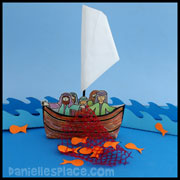 """Fishers of Men"" Envelope Boat Craft"