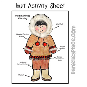 Inuit Coloring and Activity Sheet