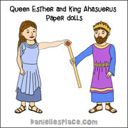 Queen Esther and King Ahasuerus Paper Dolls