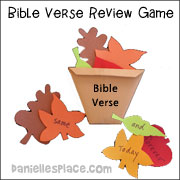Basket Full of Leaves Bible Verse Review Game