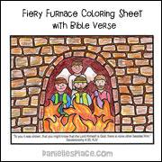 Fiery Furnace Coloring Sheet