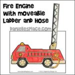 Fire engine with Moveable Ladder and Hose Activity Sheet