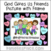 """God Gives Us Friends"" Coloring Sheet"