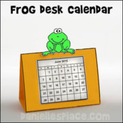 New Year's Frog Desk Calendar
