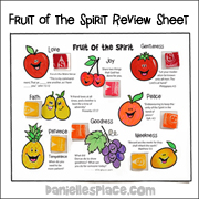 Fruit of the Spirit Review Sheet