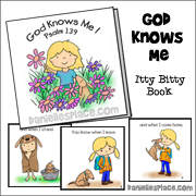 God Knows Me Itty Bitty Book