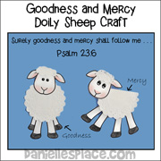 Goodness and Mercy Doily Sheep Craft