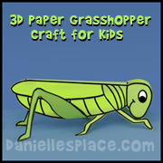 3D Grasshopper and Locust Craft