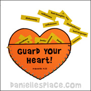 Guard Your Heart Pocket Craft
