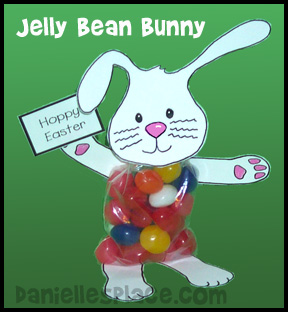 Jelly Bean Bunny Easter Craft