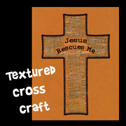 Jesus Rescues Me Cross Craft