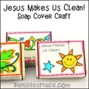 Jesus Makes You Clean Soap Cover Craft