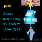 Jesus Ascending to Heaven Paper Cup Craft