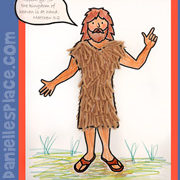 John the Baptist with Camel Hair Clothes Craft Picture