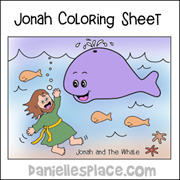Jonah and the Whale Color Sheet